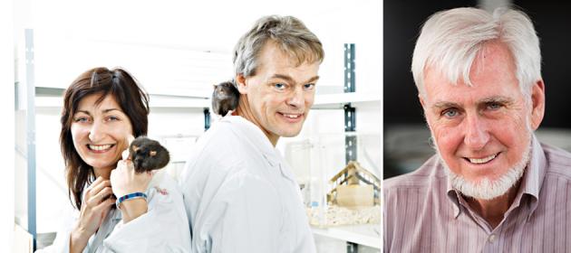 I tre Nobel per la Medicina 2014: i coniugi Moser, May-Britt ed Edvard a sinistra, e John O'Keefe.